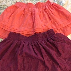 Two Aeropostale skirts